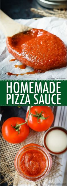 Homemade Pizza Sauce - 8 ingredients, 5 minutes and a blender is all you need to. Recipes - Homemade Pizza Sauce – 8 ingredients, 5 minutes and a blender is all you need to make this easy a - Homemade Sauce, Homemade Pizza Recipe, Pizza Sauce Recipe Easy, Healthy Pizza Sauce, Keto Pizza Sauce, Canning Pizza Sauce, Homemade Pizza Ingredients, Vegan Pizza Recipe, Making Homemade Pizza