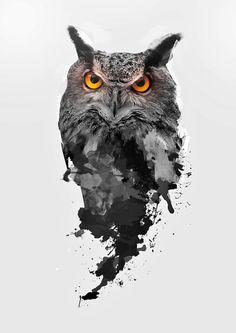 Be Watchful by on DeviantArt Dog Tattoos, Body Art Tattoos, Girl Tattoo Placements, Owl Tattoo Drawings, Tattoo Owl, Realistic Owl Tattoo, Atlas Tattoo, Model Tattoo, Owl Artwork