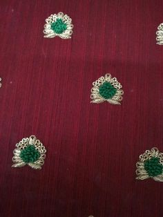 French Knot Embroidery, Border Embroidery Designs, Embroidery Suits Design, Embroidery Works, Zardosi Embroidery, Embroidery Motifs, Embroidery Fashion, Cotton Saree Blouse Designs, Maggam Work Designs