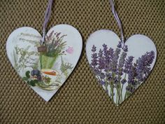 Decoupage hearts
