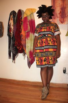 Belt ethnic oversize T-dresses via Stylelikeu