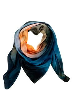 Madagascan Agate Silk Scarf | Camille Styles