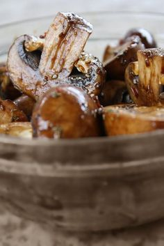 Marinated Mushrooms - GORGEOUS food photography, too!