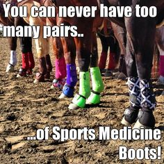 You can never have too many pairs.. ...of Sports Medicine Boots! (courtesy of @Pinstamatic http://pinstamatic.com)