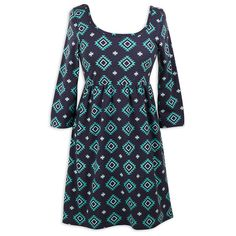 Ladies Navy Teal Aztec Knit Dress – Lolly Wolly Doodle