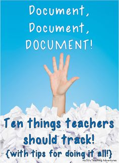 Do you need to be better about documentation in your classroom? This post will give you great ideas and tips to get started and stay organized! Great tips for teacher documentation here!