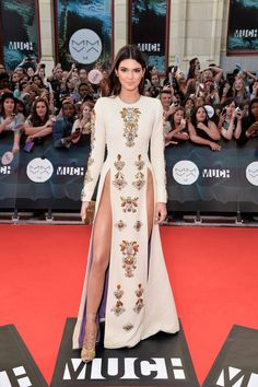 Kendall Jenner at the Much Music Video Awards 2014 in Fausto Puglisi.