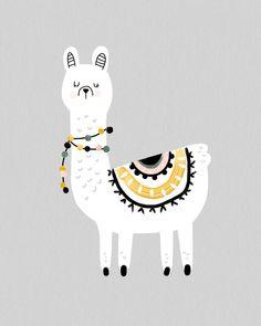 Hello Llama Lovers! Check out our latest Llama Art Print. www.phoenixandtheocean.com.au