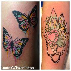 ...  Winzer Tattoo Pastel Colors Beautiful Tattoo Crystals Tattoo
