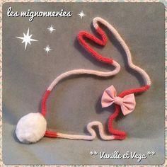 Lapin en tricotin - Boutique Vanille et vega