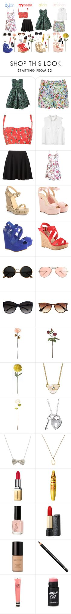 """""""The Clique- Floral"""" by daniellenicole ❤ liked on Polyvore featuring Rachel Antonoff, Forever New, Tucker, Monki, Christian Louboutin, Cole Haan, Office, ALDO, J.Crew and GUESS by Marciano"""