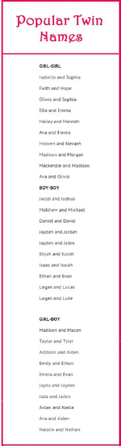 http://nameberry.com/blog/twin-naming-guide-ideas I Love the names Elijah and Isaiah for twin boys❤(nexttime)