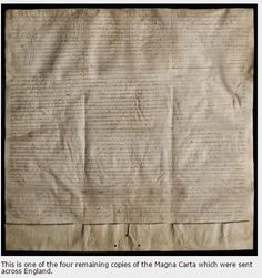 Image of one of the four remaining Magna Carta sent across England #Britishvalues #MagnaCarta #KS1 #KS2