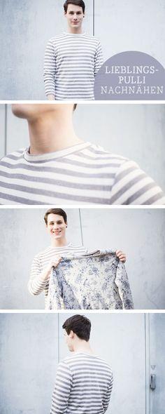 Näh-DIY: Mit Vorlage den Lieblingspulli nachnähen, trendy Nähanleitung / sewing diy: how to sew a comfy hoodie via DaWanda.com