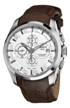 Tissot Mens T0356271603100 Couturier White Chronograph Dial Watch