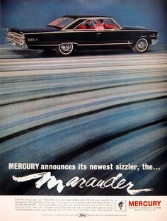 size: Premium Giclee Print: 1963 Mercury - Marauder : Printed on thick, premium watercolor paper, this stunning print was made using a giclée printing process that delivers pure, rich color and remarkable detail. Car Advertising, Ads, Mercury Marauder, Mercury Cars, Ford Classic Cars, Automotive Photography, Us Cars, The Marauders, Stretched Canvas Prints