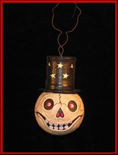 Hanging Skelly Halloween Lantern at my Every Witch Way Lane Store..  $90.00