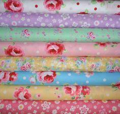 Lecien Fabrics Sugar Flower 2012 1/2 yard by skyerevefabrics,