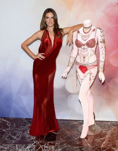 Model Alessandra Ambrosio attends the Victoria's Secret Dream Angels Fantasy Bra debut at the Fashion Show mall on November 13, 2014 in Las Vegas, Nevada.