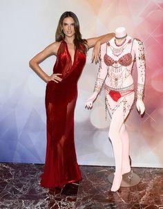 Model Alessandra Ambrosio attends the Victoria's Secret Dream Angels Fantasy Bra debut at the Fashion Show mall on November 13, 2014 in Las Vegas, Nevada.