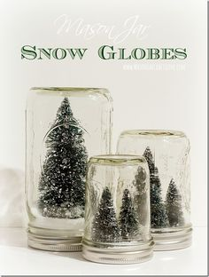 Anthropologie Snow Globes - Mason Jar Crafts Love - mason-jar-snow-globes-anthropologie-inspired 1 The Effective Pictures We Offer You About harry pott - Mason Jar Christmas Gifts, Mason Jar Gifts, Mason Jar Diy, Christmas Diy, Christmas Decorations, Christmas Snow Globes, Christmas Events, Country Christmas, Merry Christmas