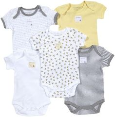 Burt's Bees Baby 5 Pack Essentials Solid Bodysuits - http://www.diapers.com/p/burts-bees-baby-5-pack-essentials-solid-bodysuits-baby-sunshine-1023047