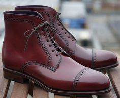 Fancy - Carmina x Epaulet Bradbury Perforated Captoe Boot