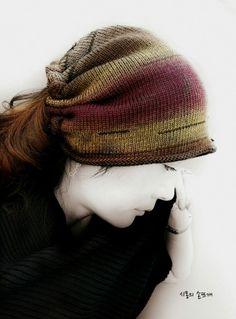 """""""모이면 예뻐져요.""""...손뜨개두건 뜨기 : 네이버 블로그 Shawl, Winter Hats, Knitting, Crochet, Beautiful, Fashion, Sacks, Caps Hats, Tejidos"""
