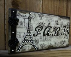 PARIS Decor Sign Decorative Eiffel Tower in by AlmaSweetHeartDeals