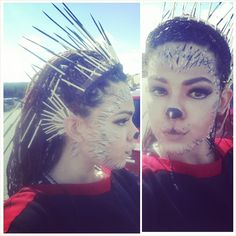 PORCUPINE! by JenMalfoy. Tag your pics with #Halloween and #SephoraSelfie on Sephora's Beauty Board for a chance to be featured!