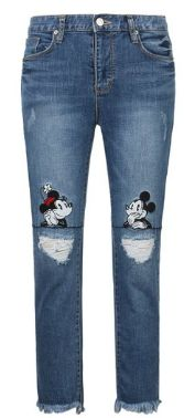 Disney Discovery- Mickey And Minnie Distressed Jeans