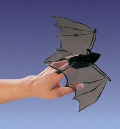 Bat Finger Puppet by Folkmanis Puppets at www.stuffedsafari.com