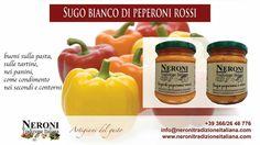 Peperoni rossi in crema o sugo bianco... #neronitradizioneitaliana #madeinitaly #marmellata #ciboitaliano #frutta #sughipronti #creme #patè #verdura #contolavorazione