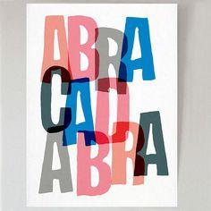 Abrakadabra von shapecolourpattern auf Etsy