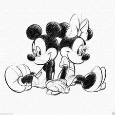 Disney Frozen Retro Mickey & Minnie Sketch Leinwand - # - New Ideas Wallpaper Do Mickey Mouse, Mickey Mouse Drawings, Disney Wallpaper, Mickey Mouse Background, Mickey Drawing, Disney Art Diy, Disney Artwork, Cartoon Drawings Of Animals, Cartoon Art