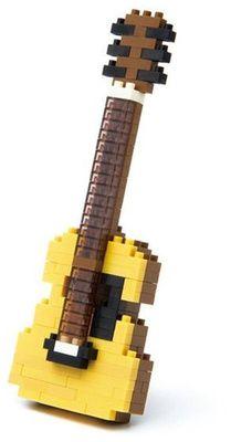Music Sales Nanoblock: Acoustic Guitar Lego Modellbau Toy Akustik Gitarre