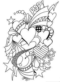 Adult Coloring Pages Valentines Best Of Pin De Susan Mihalko Em Valentine S Day Coloring Pages Shape Coloring Pages, Heart Coloring Pages, Printable Adult Coloring Pages, Coloring Books, Coloring Sheets, Free Coloring, Pop Art, Valentines Day Coloring Page, Bunt
