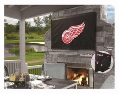 Detroit Red Wings 60 Inch TV Protection Cover