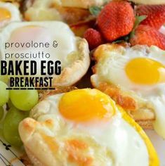 Prosciutto and Provolone Baked Egg Breakfast - a perfect easy brunch recipe that takes just 4 ingredients and only 20 minutes! Eggs Prosciutto and Provolone Baked Egg Breakfast Breakfast Items, Breakfast Dishes, Eat Breakfast, Breakfast Recipes, Morning Breakfast, Breakfast Casserole, Easy Brunch Recipes, Egg Recipes, Brunch Ideas