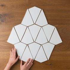Kites in White Wash. This shape makes for dynamic wall or floor tile.