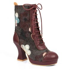 High heels for every occasion! From vintage beauties to quirky styles. Quirky Shoes, Combat Boots, Ankle Boots, Irregular Choice, Vintage Beauty, Brown Boots, Fall Winter, Autumn, High Heels