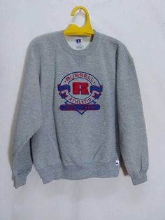 ff9e0161 Vintage Russell Athletic Big Logo Embroidered Hip Hop Swag Swagger Made In  USA Sweatshirt by ArenaVintage