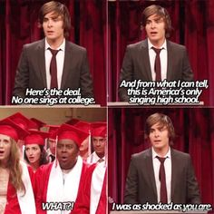 Find images and videos about funny, zac efron and high school musical on We Heart It - the app to get lost in what you love. High School Musical, Troy Bolton, Disney Pixar, Funny Disney, Disney Memes, Disney Quotes, Nickelodeon, What Do You Mean, Adolescents