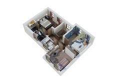 Casa model A - Apartamente ieftine - Garsoniere ieftine Magurele - Planuri si imagini