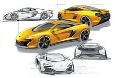 Automotive Design | Mclaren 650s Sketches (2014)
