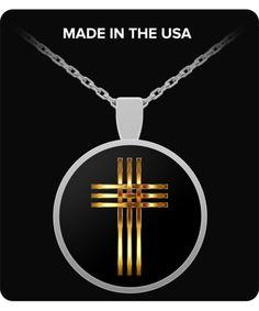 Stylized Golden Cross - Necklace