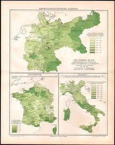 Kriminalität in Deutschland Frankreich und Italien (1882-1892) - Bayern Oberschlesien Posen und Ostpreußen waren dunkle Schalfe