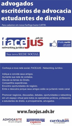 Conheça nossa Rede Social.      Curta nossa FanPage: www.facebook.com/Advogasite.