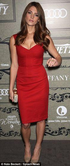 Ashley Greene + Red Dress