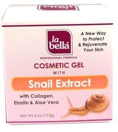 La Bella Cosmetic Gel with Snail Extract, 4 Ounce by La Bella. $8.29. Baba de caracol cream. Rejuvenates skin. Snail extract with collagen. Helps protect and rejuvenate skin strengthens and stabilizes cells enriched with collagen, elastin and aloe vera for a healthier looking skin. Save 17%!